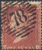 1856 1d Red SG29 Plate 27 'GG'